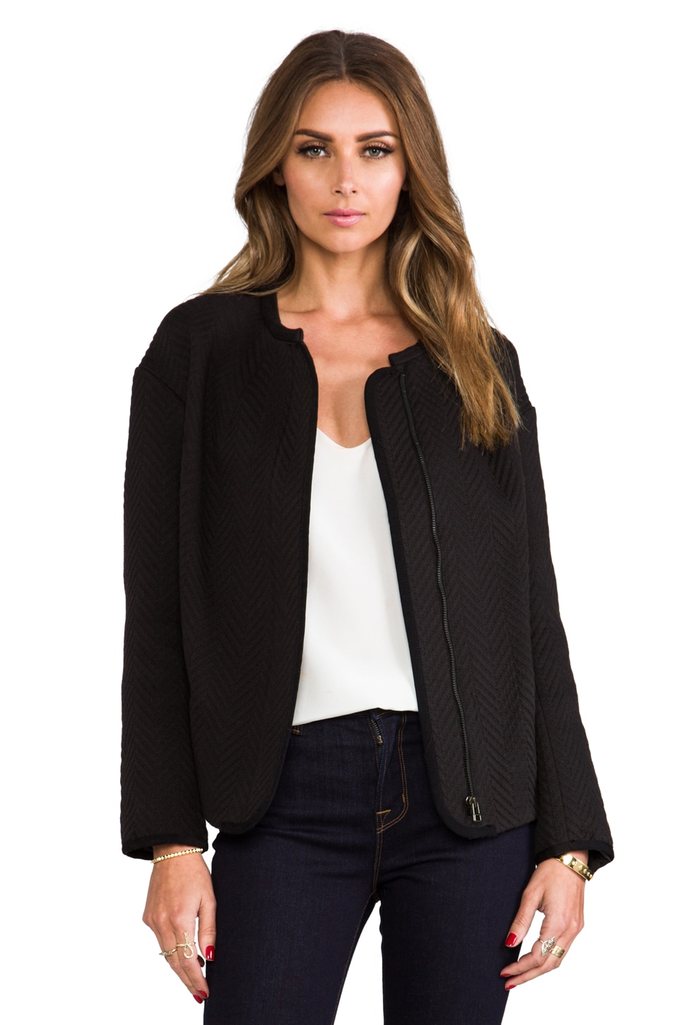 BY ZOE Roxy Blazer in Black