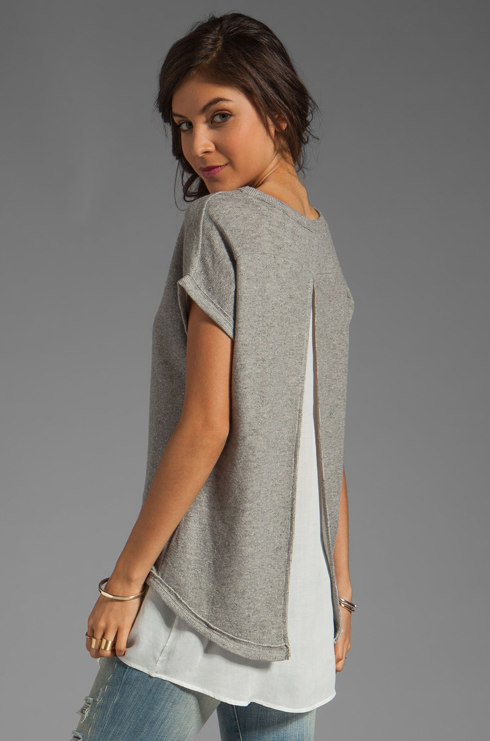 BY ZOE Rabat Top in Grey