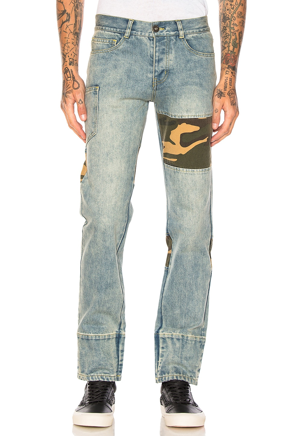 Camo Patchwork Stonewashed Jean by C2H4