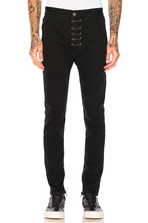 Pinned Drop-Crotch Zipper Pants by C2H4