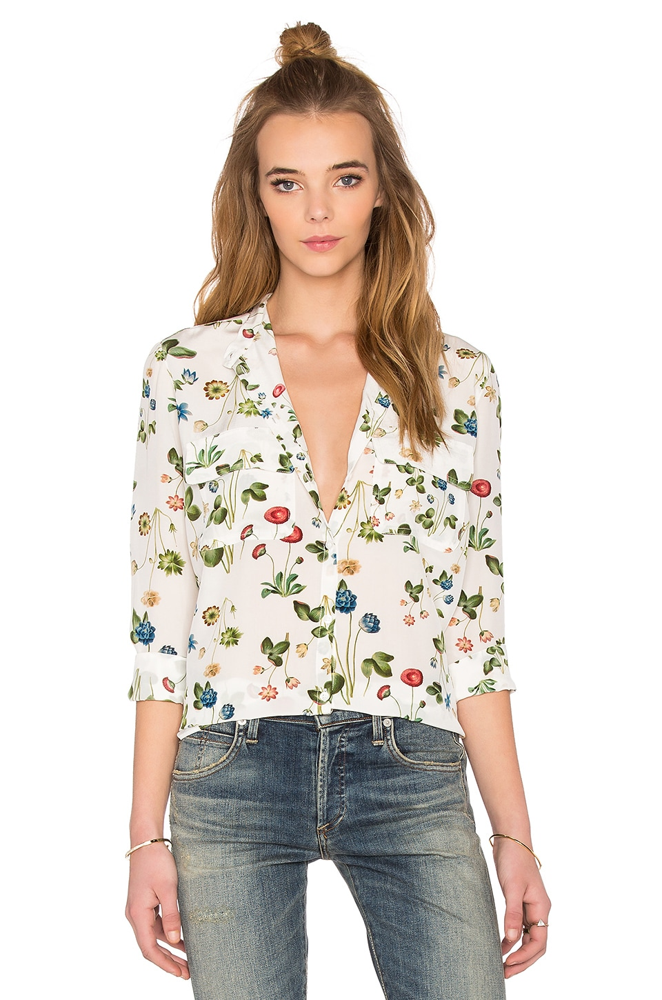 7da79d59679 cacharel Blouse in White Floral | REVOLVE