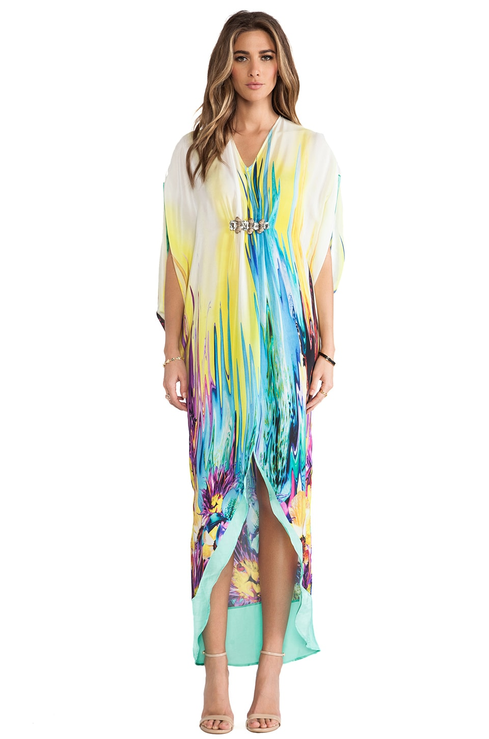 Caffe Caftan in Aqua Splash