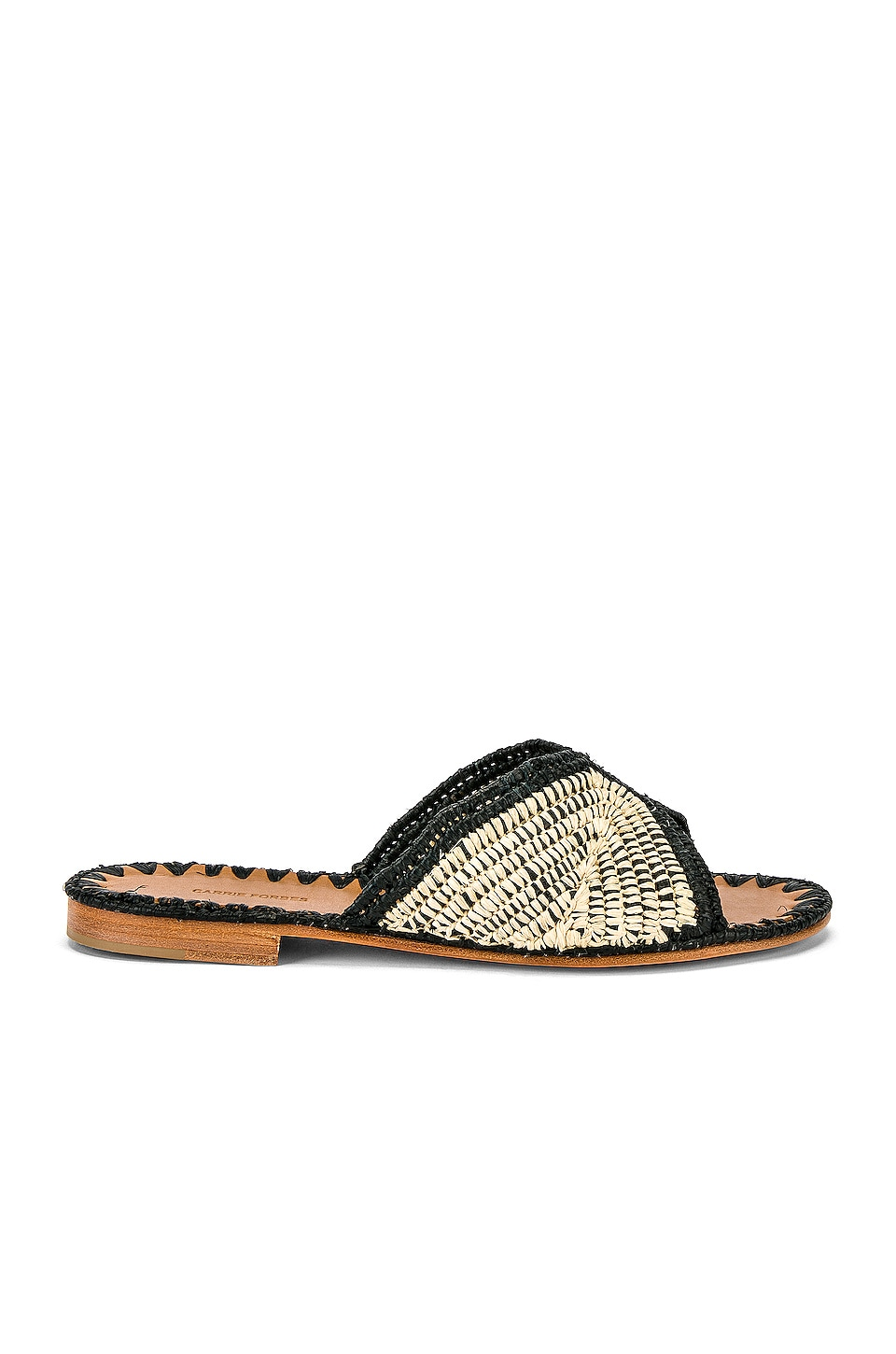 Carrie Forbes Salon Miste Sandal in Noir & Natural