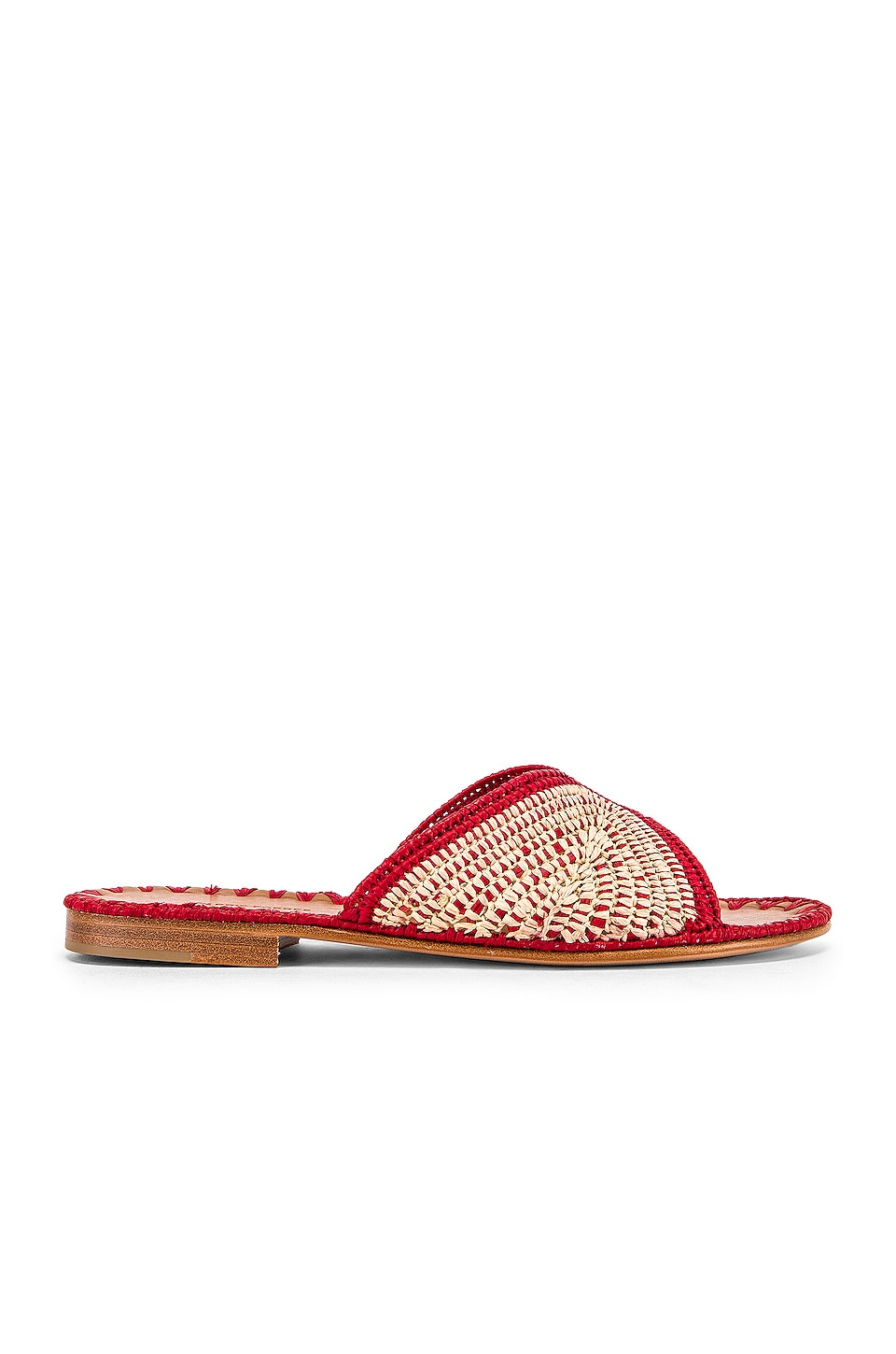 Carrie Forbes Salon Miste Sandal in Crimson & Natural
