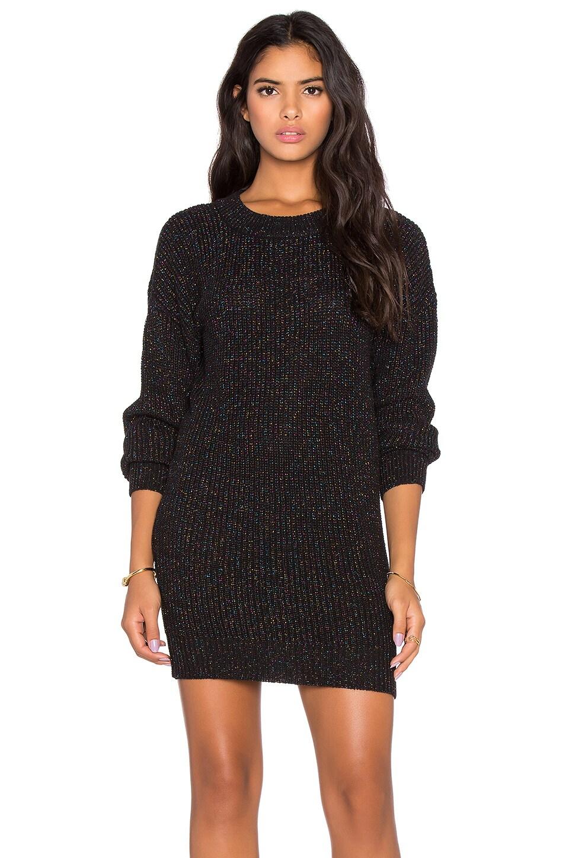 Callahan Sparkle Crewneck Sweater Dress in Black Multi