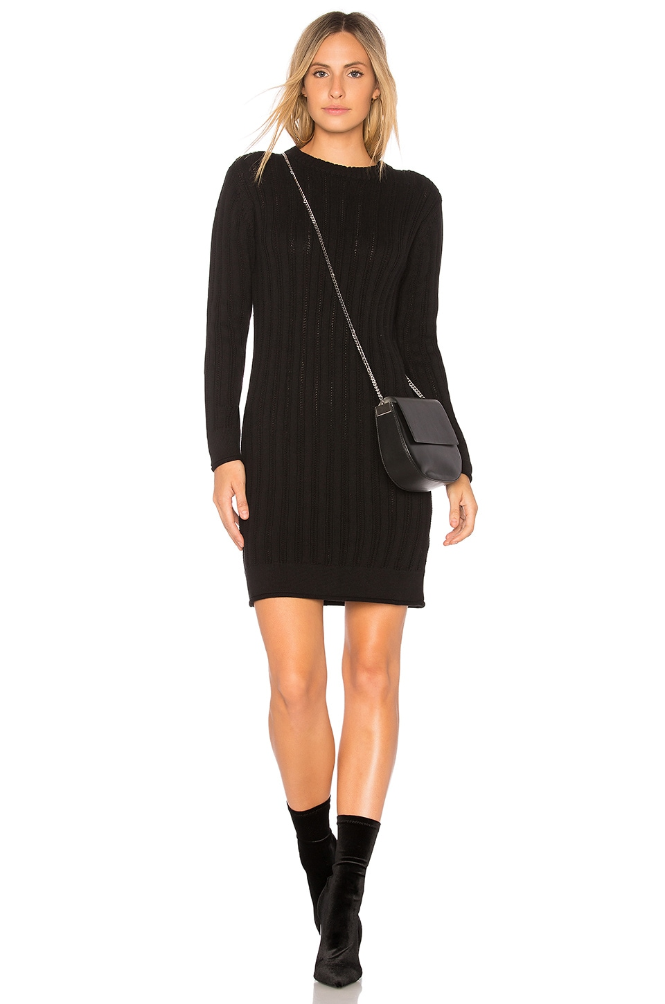 Stripe Crewneck Sweater Dress