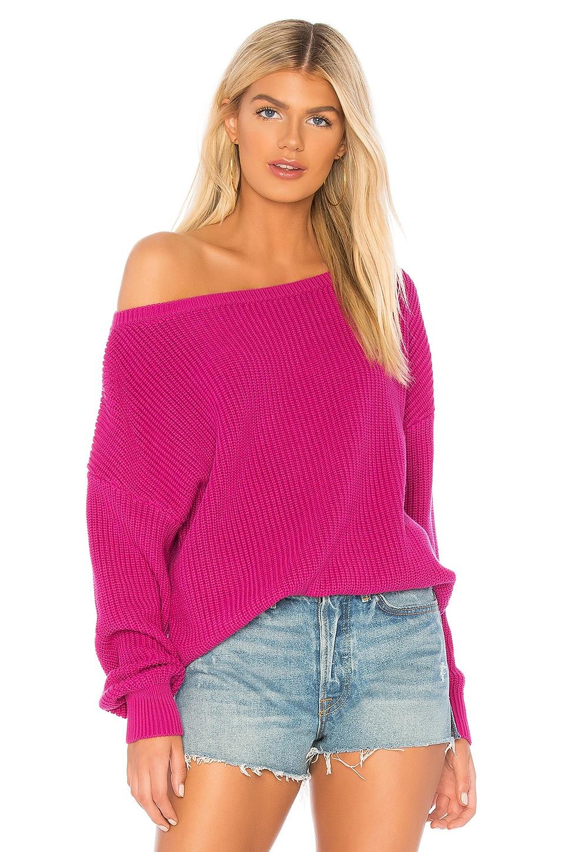 X REVOLVE Shaker Knit Off Shoulder Sweater