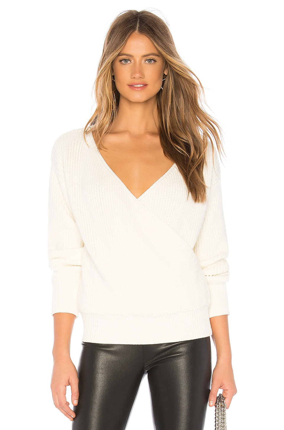 CALLAHAN Agnes Wrap Sweater in White