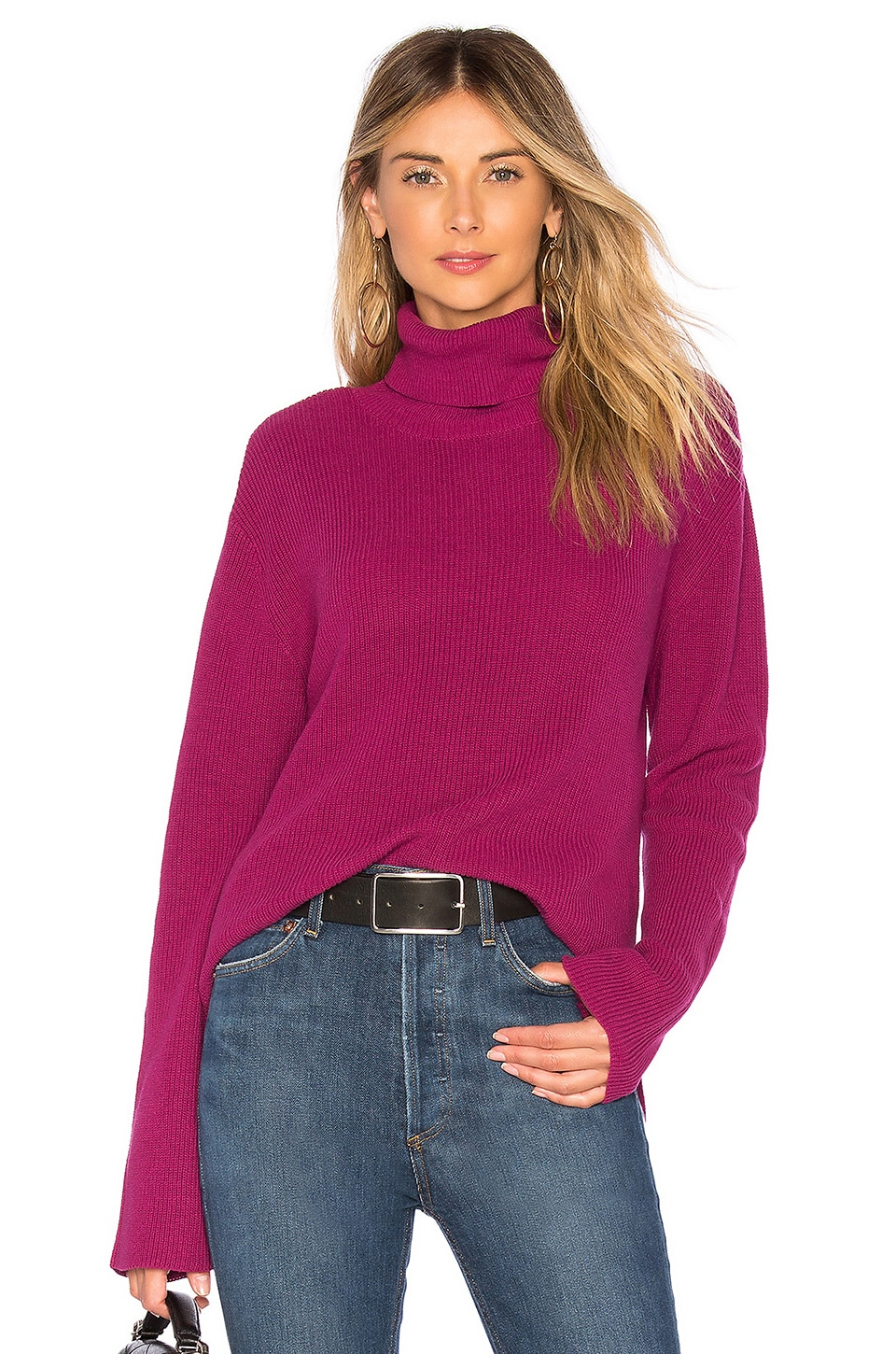 CALLAHAN X Revolve Turtleneck Sweater in Purple