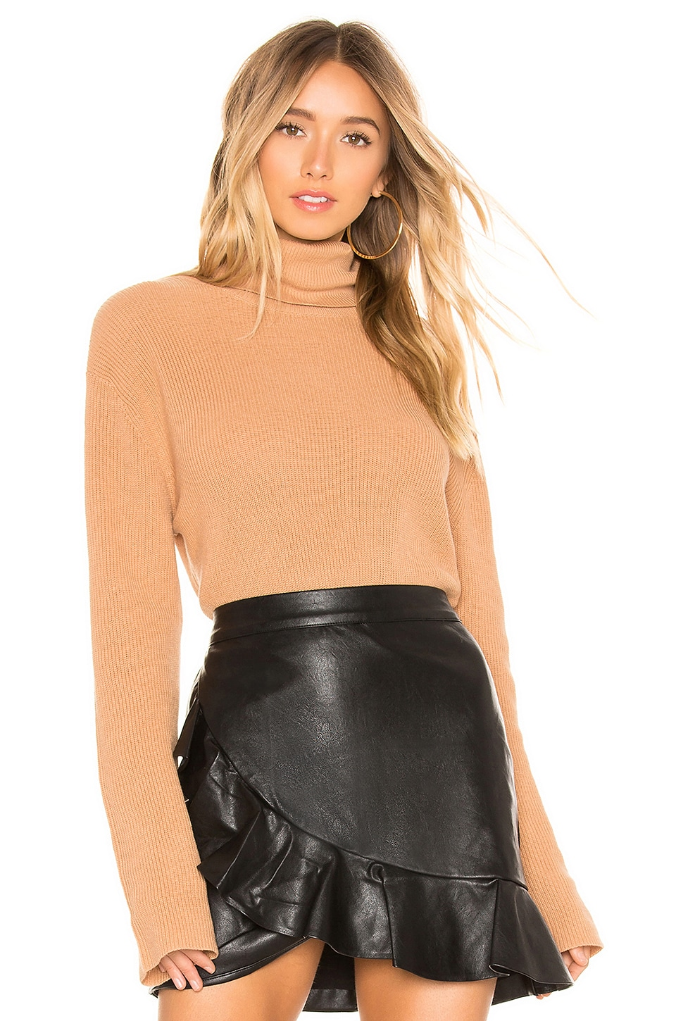 CALLAHAN X Revolve Turtleneck Sweater in Tan