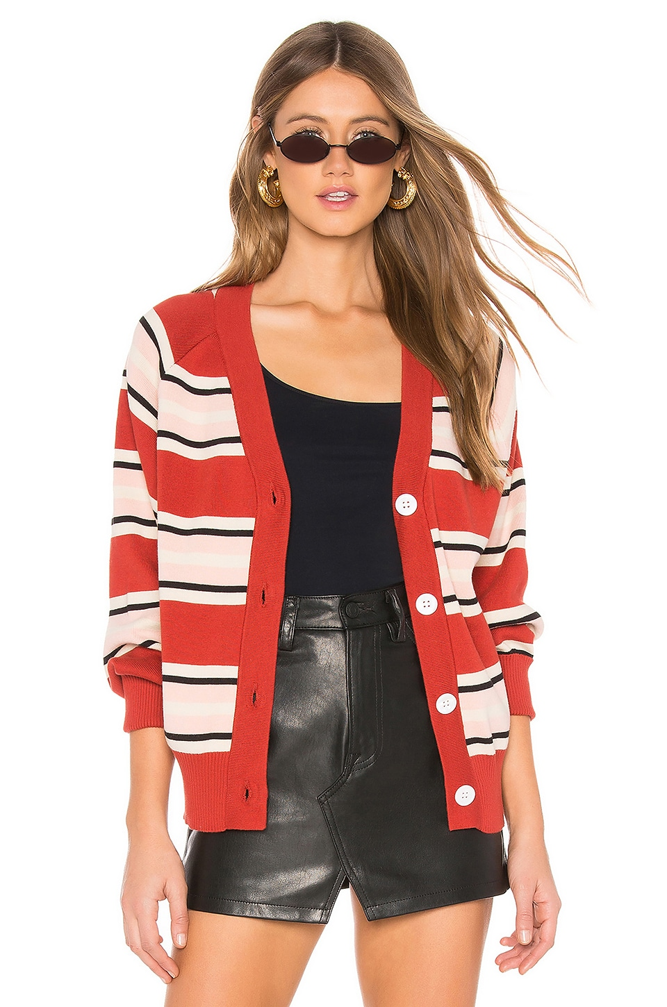 CALLAHAN Campbell Cardigan in Red