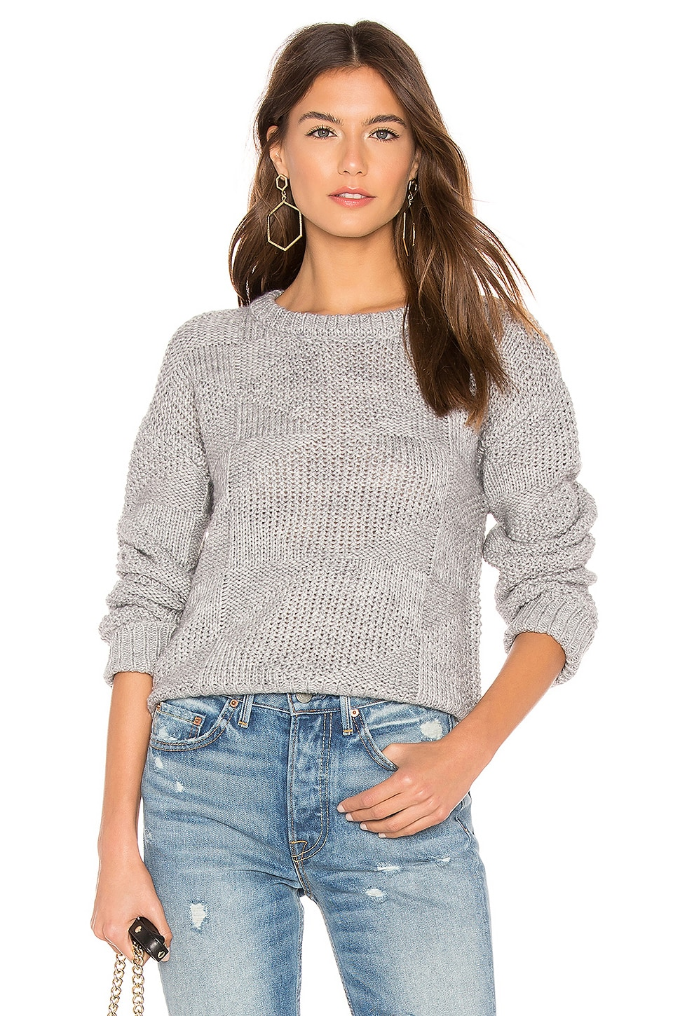 CALLAHAN Melle Crew Neck Sweater in Gray