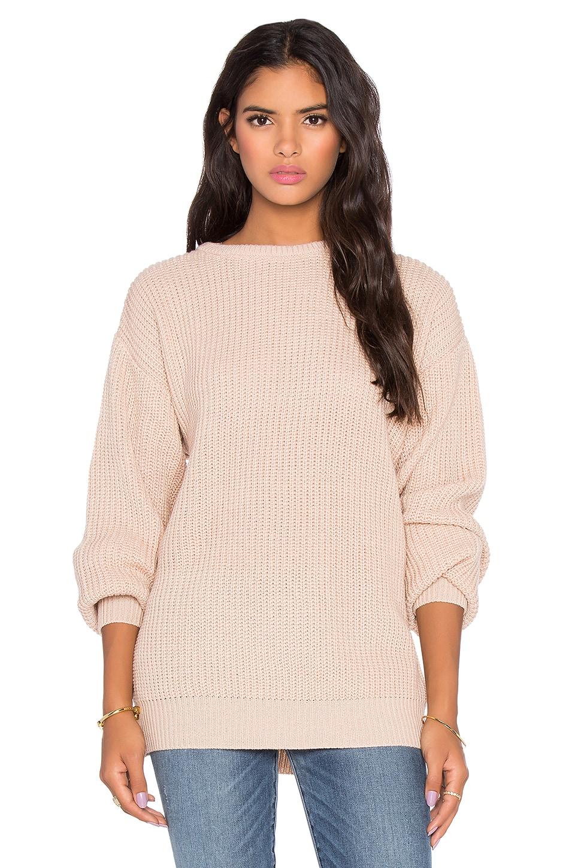 Callahan Oversized Boyfriend Sweater in Shell