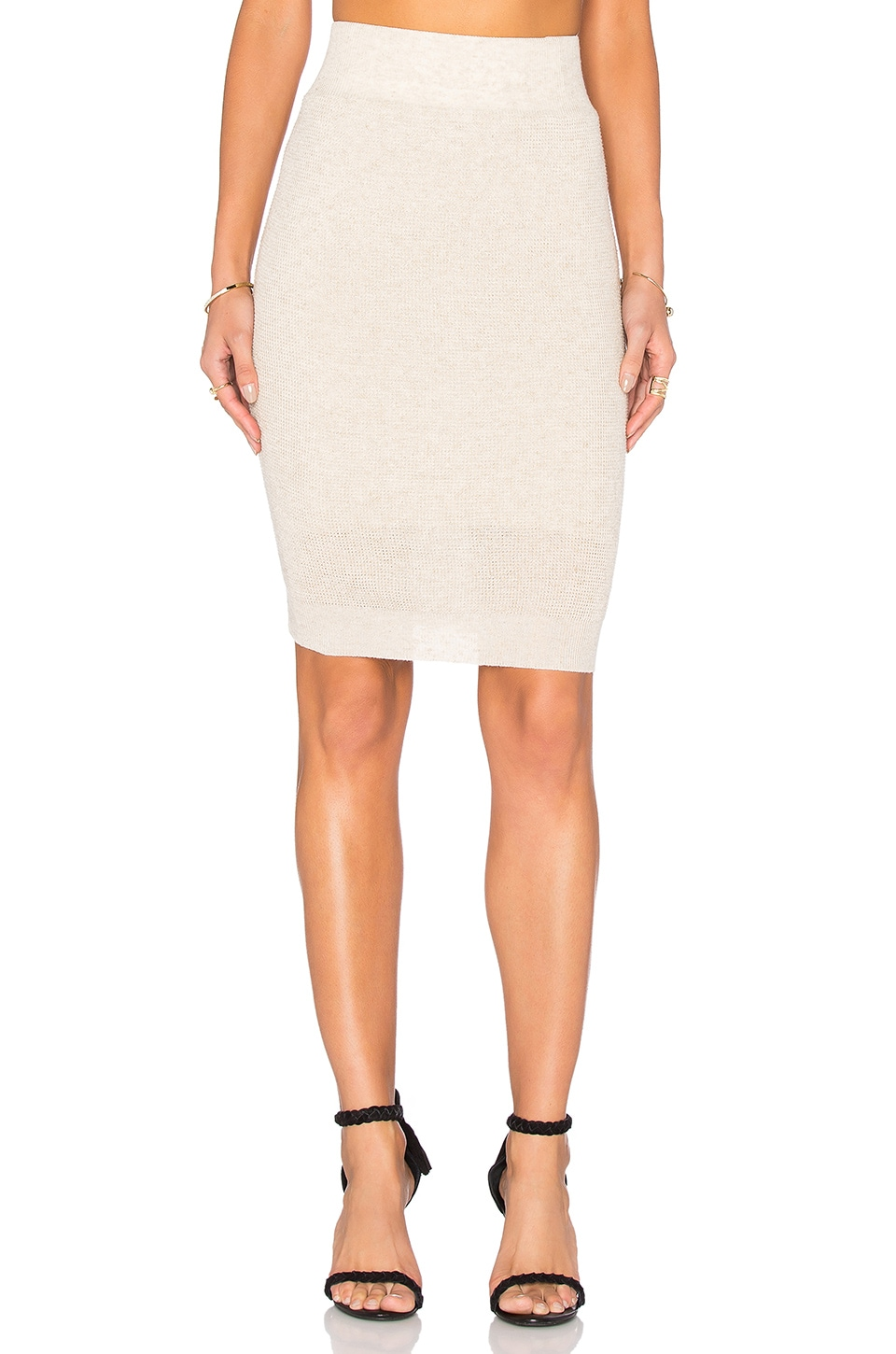 Callahan Pencil Midi Skirt in Cream