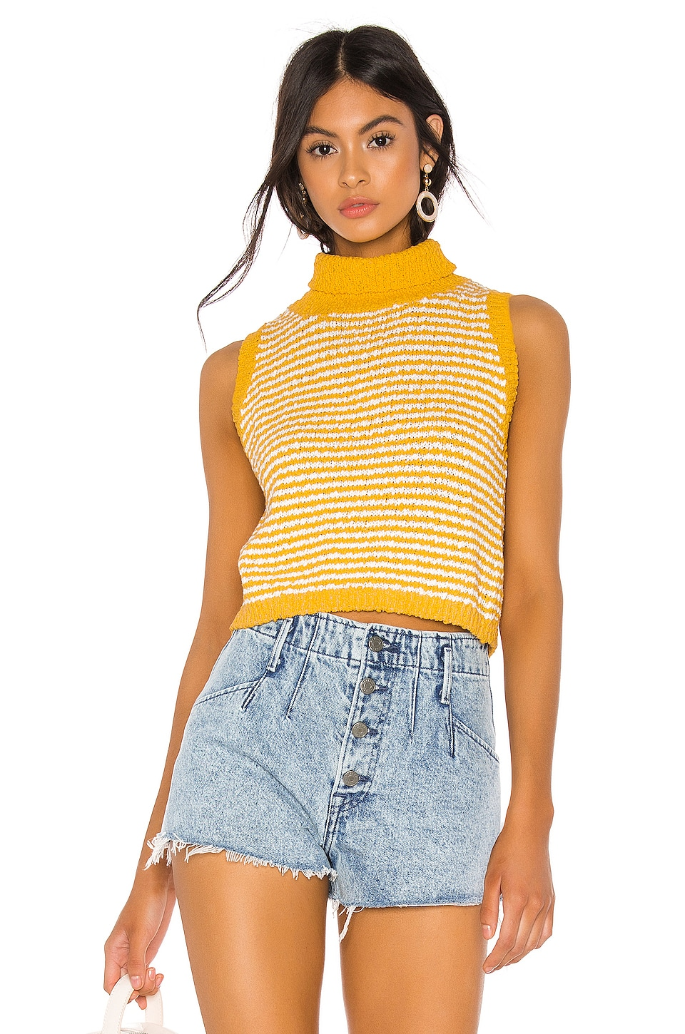 Callahan Liv Sweater Tank in Canary Yellow