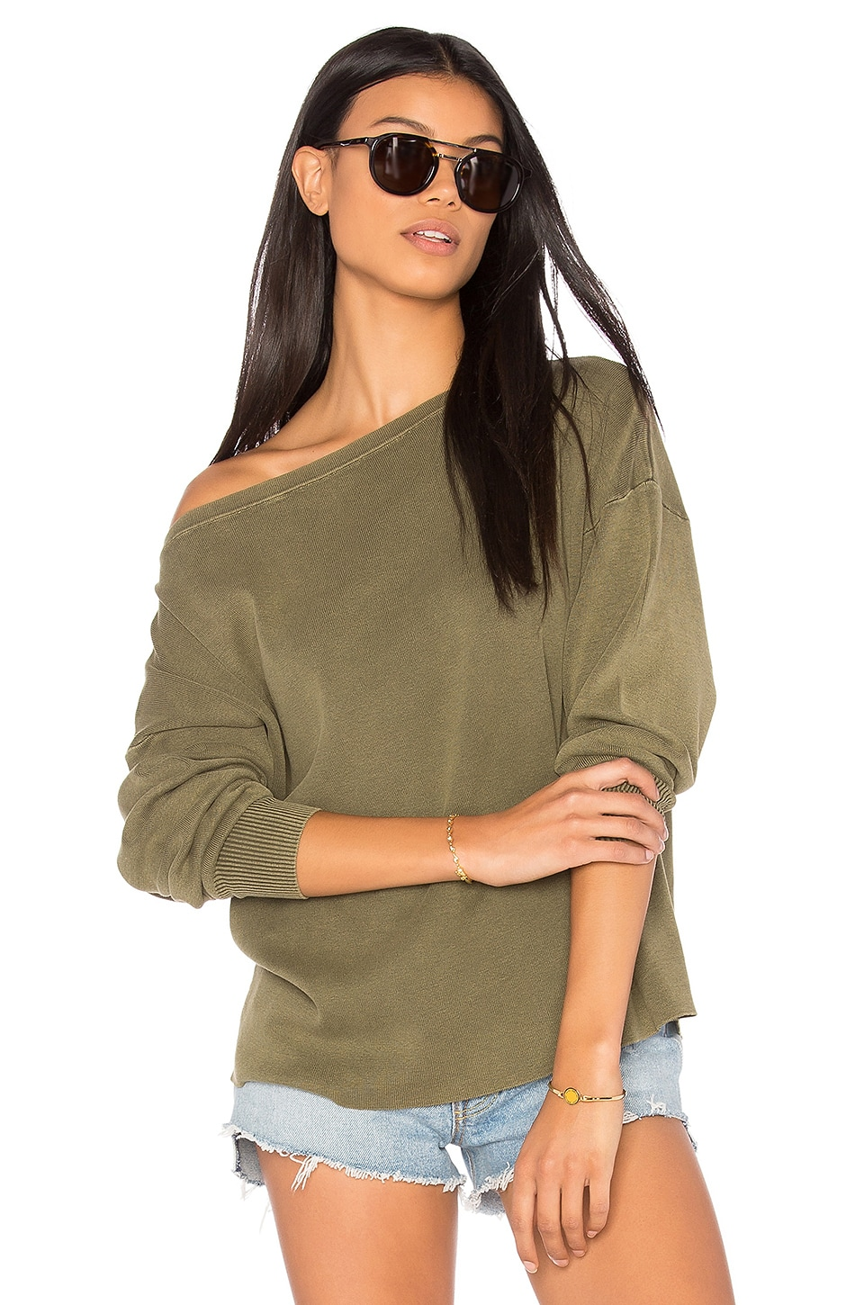 Enzyme Off the Shoulder Top by Callahan
