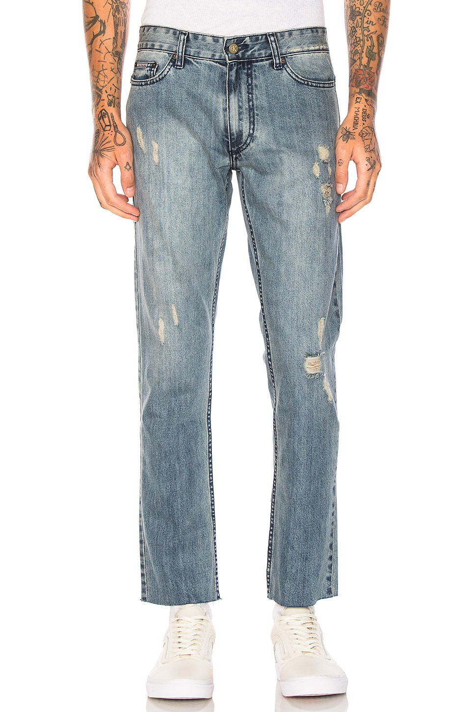 Photo of Slim Logo 5 PKT Frayed Jeans by Calvin Klein men clothes