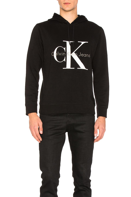 Long Sleeve Logo Hoodie by Calvin Klein