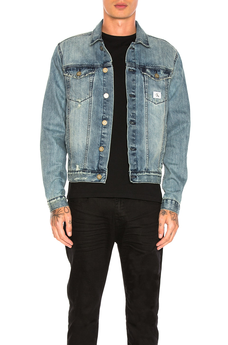 Reissue Logo Trucker Jacket by Calvin Klein