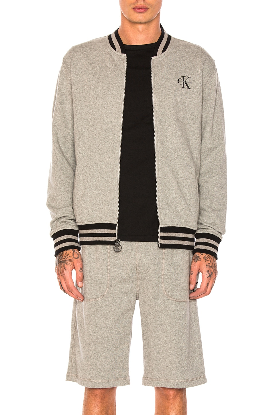 Reissue Tipping Baseball Jacket by Calvin Klein