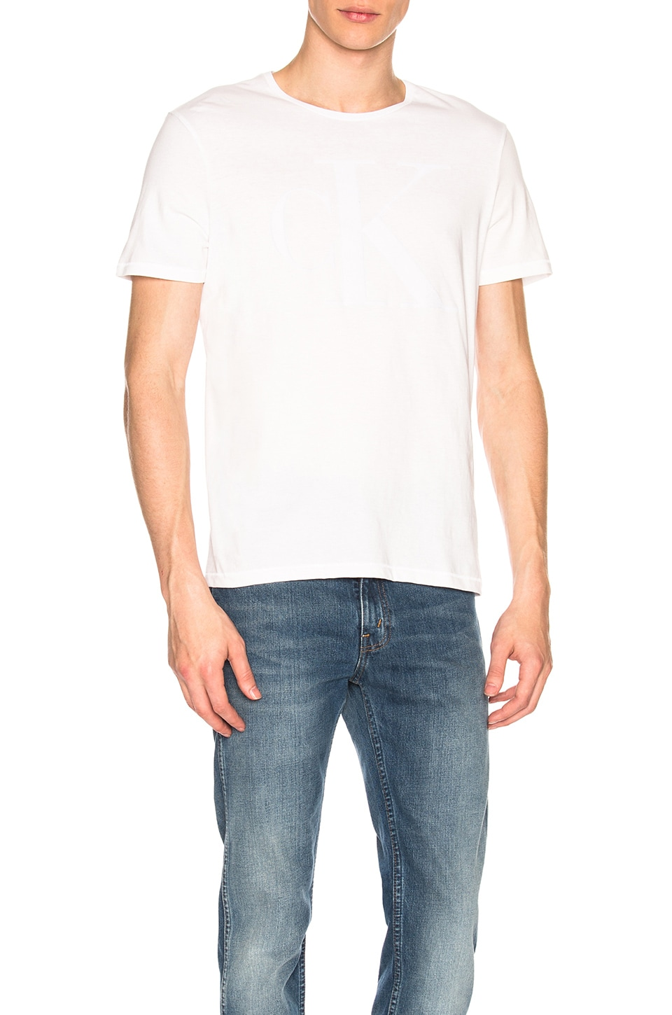 Calvin Klein T-SHIRT FLOCKED LOGO