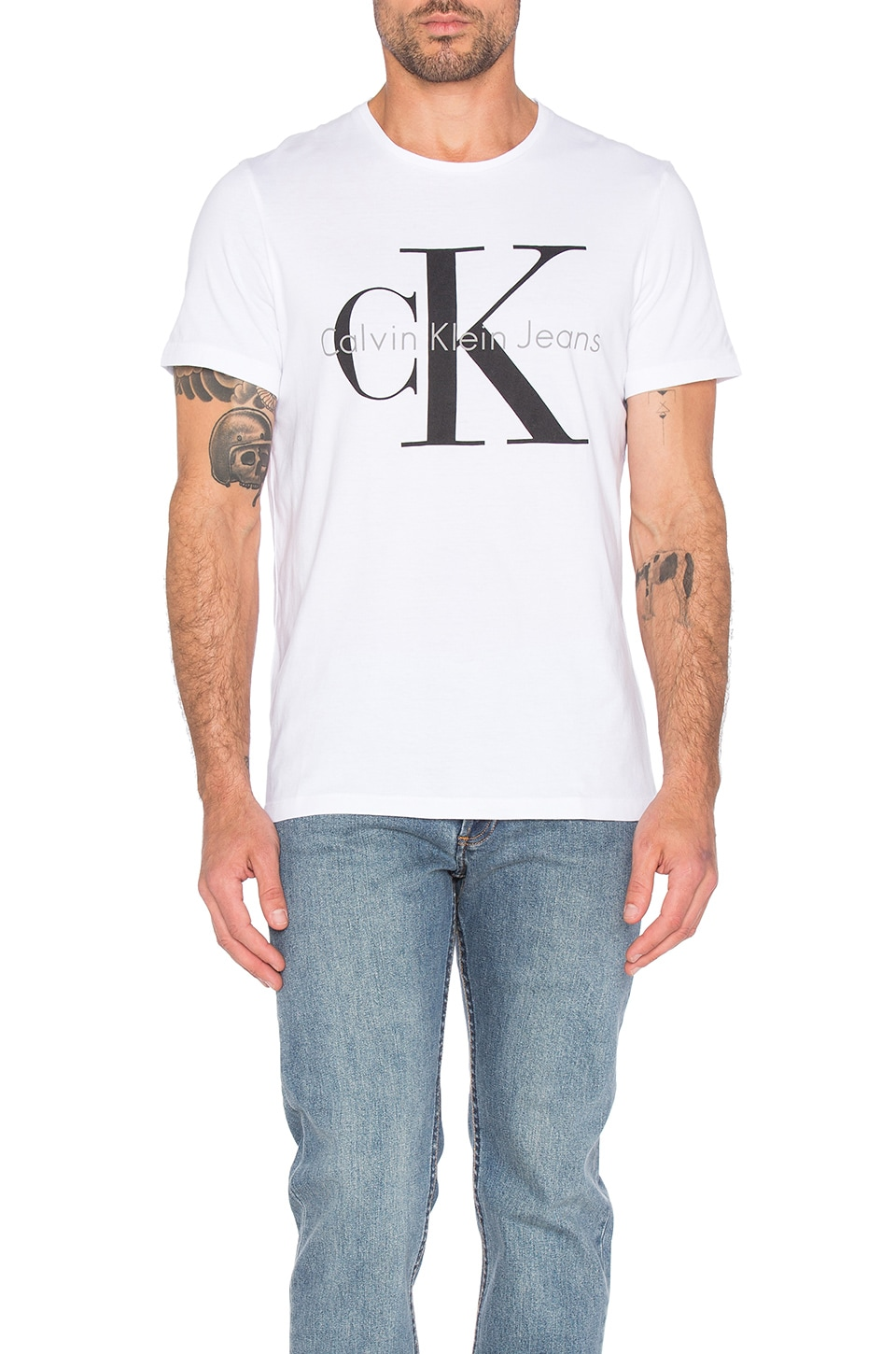 Short Sleeve Logo Crew Neck by Calvin Klein