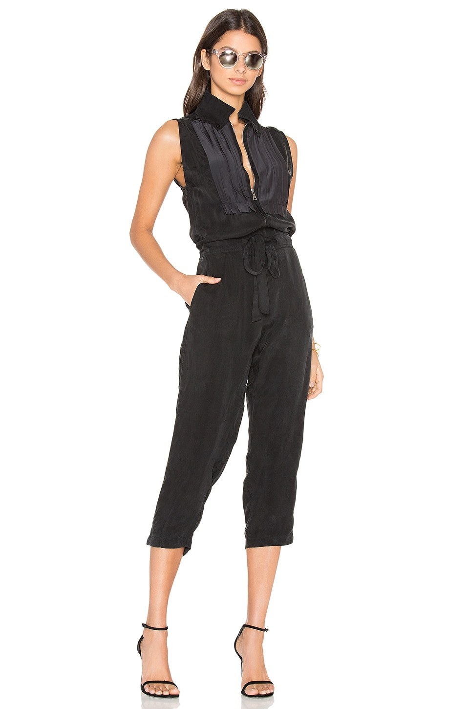 Calvin Rucker The Falcon Jumpsuit in Black