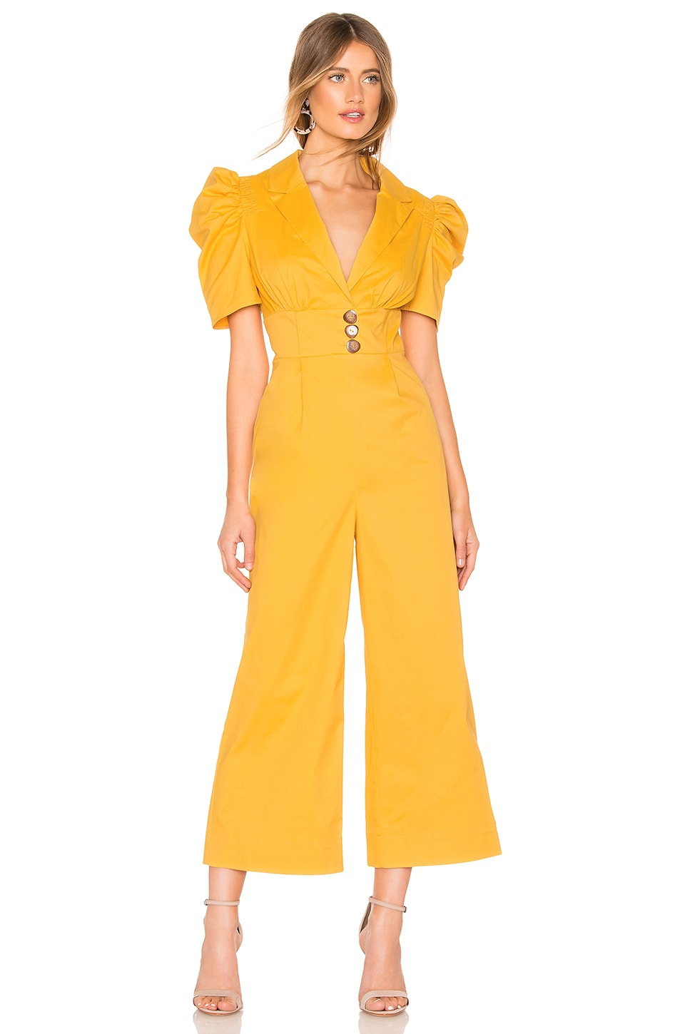 C/MEO Subscribe Jumpsuit in Marigold