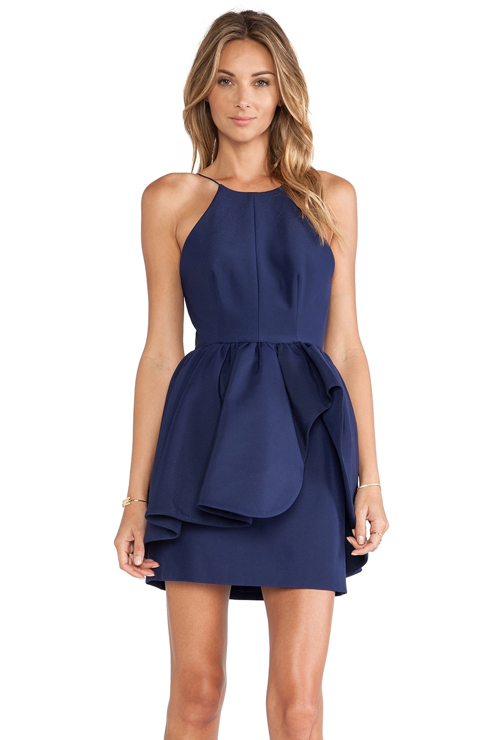 C/MEO Alone Tonight Dress in Navy Blue