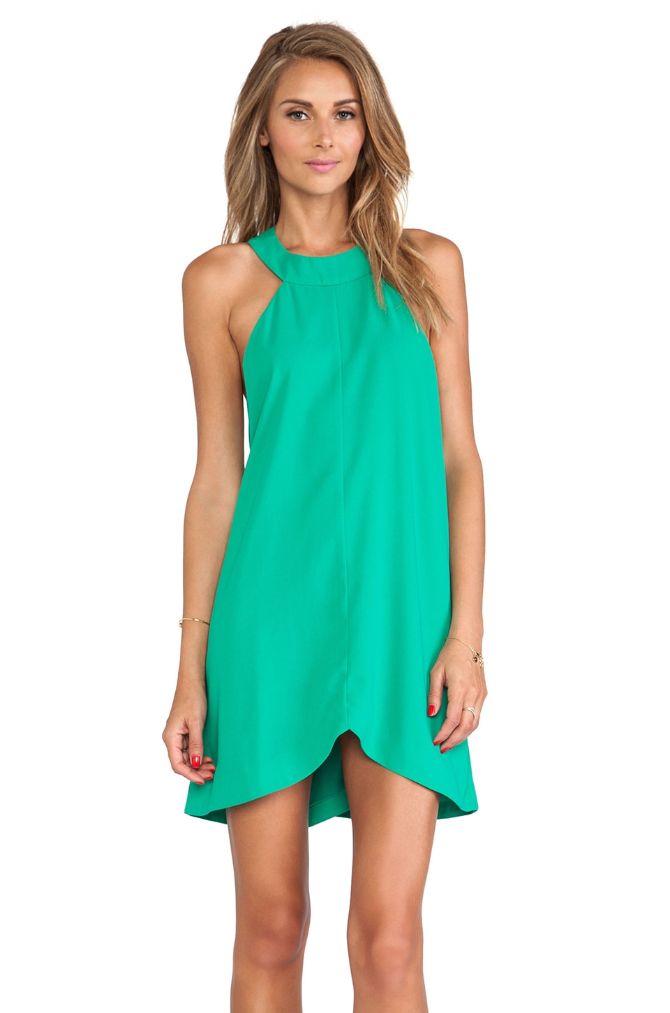 C/MEO Liquid Love Dress in Kermit Green