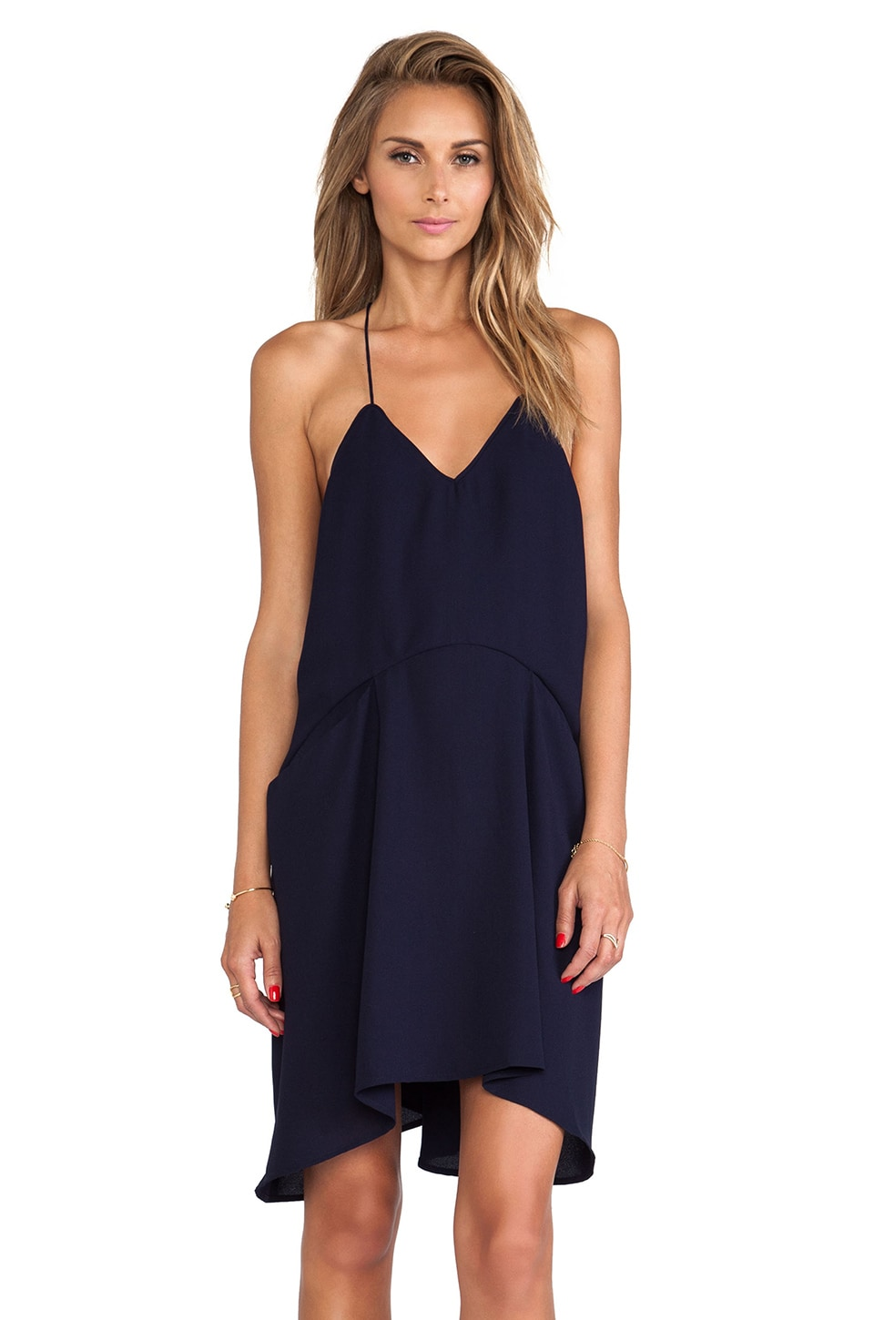 C/MEO Broken Strings Dress in Navy