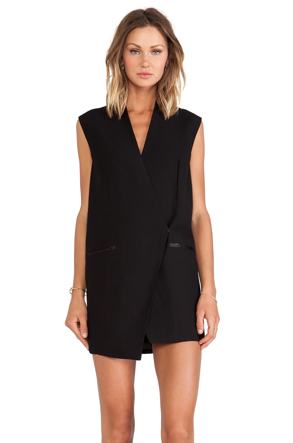 C/MEO Run Alone Vest Dress in Black