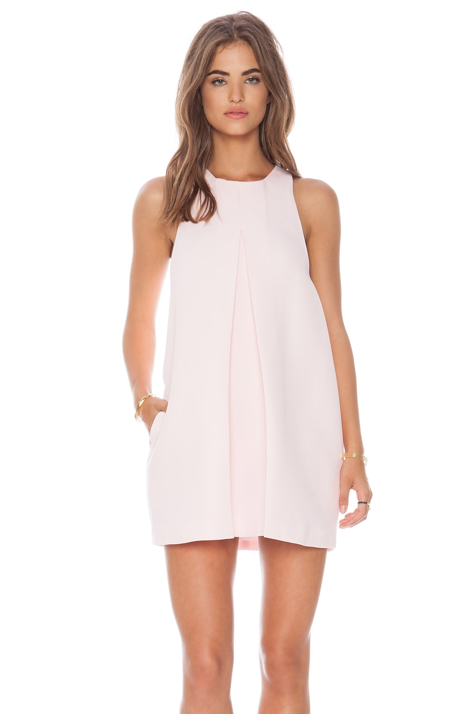 C/MEO Atmosphere Dress in Soft Pink