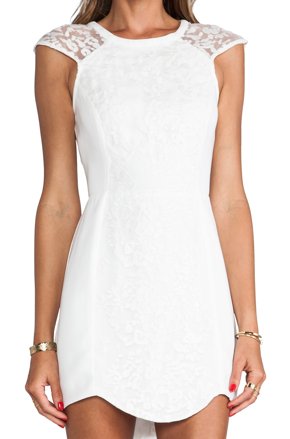 C/MEO Into the Flame Dress in Ivory