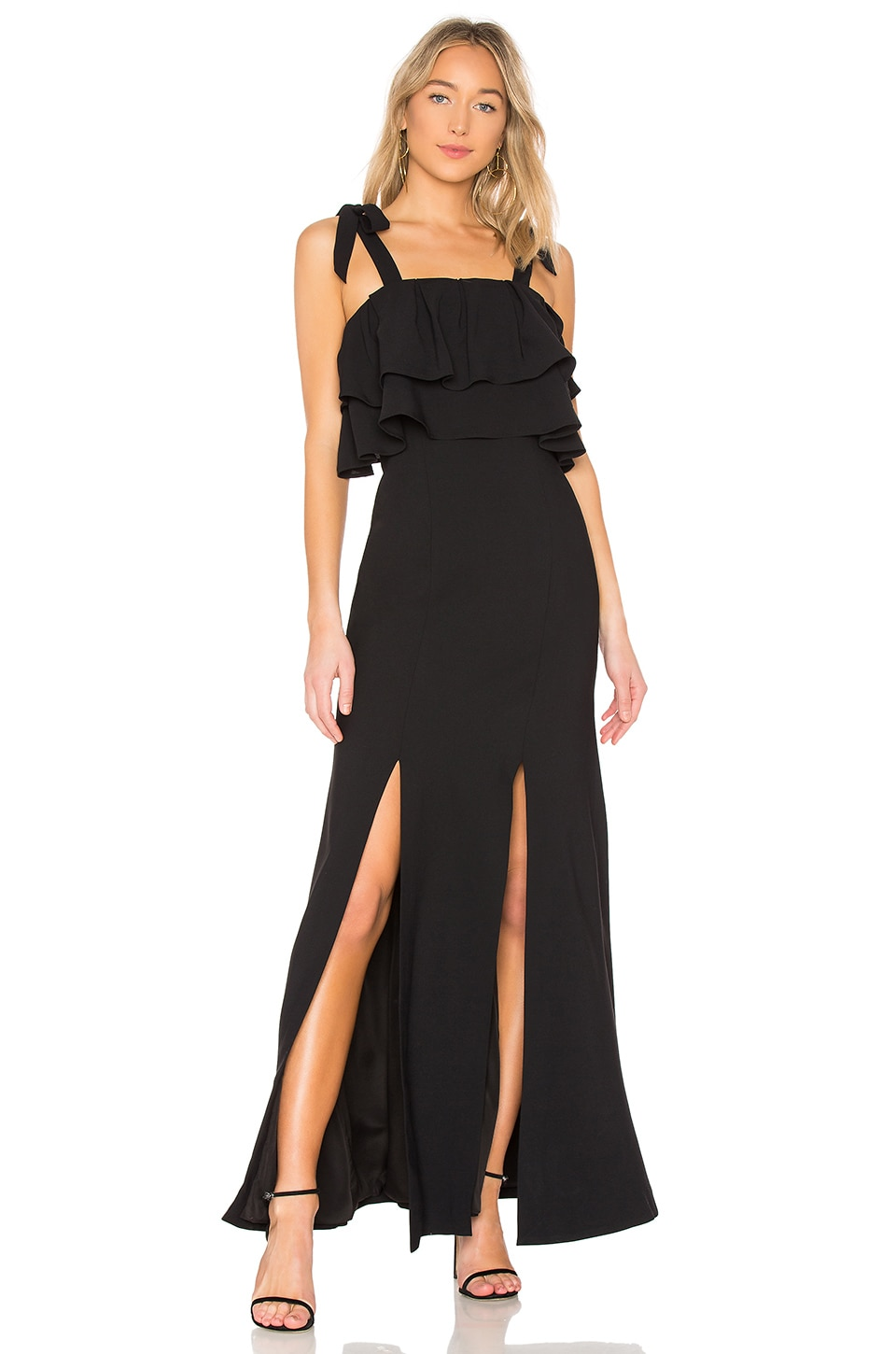 BE ABOUT YOU RUFFLE BODICE GOWN