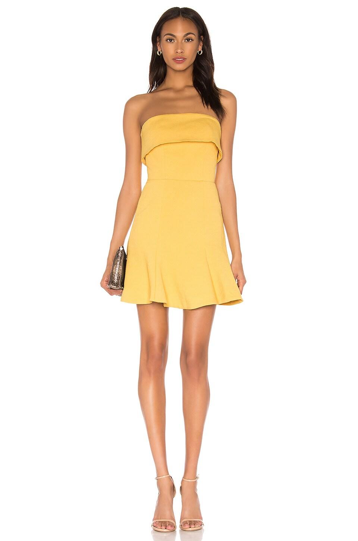 C/MEO Apex Mini Dress in Yellow