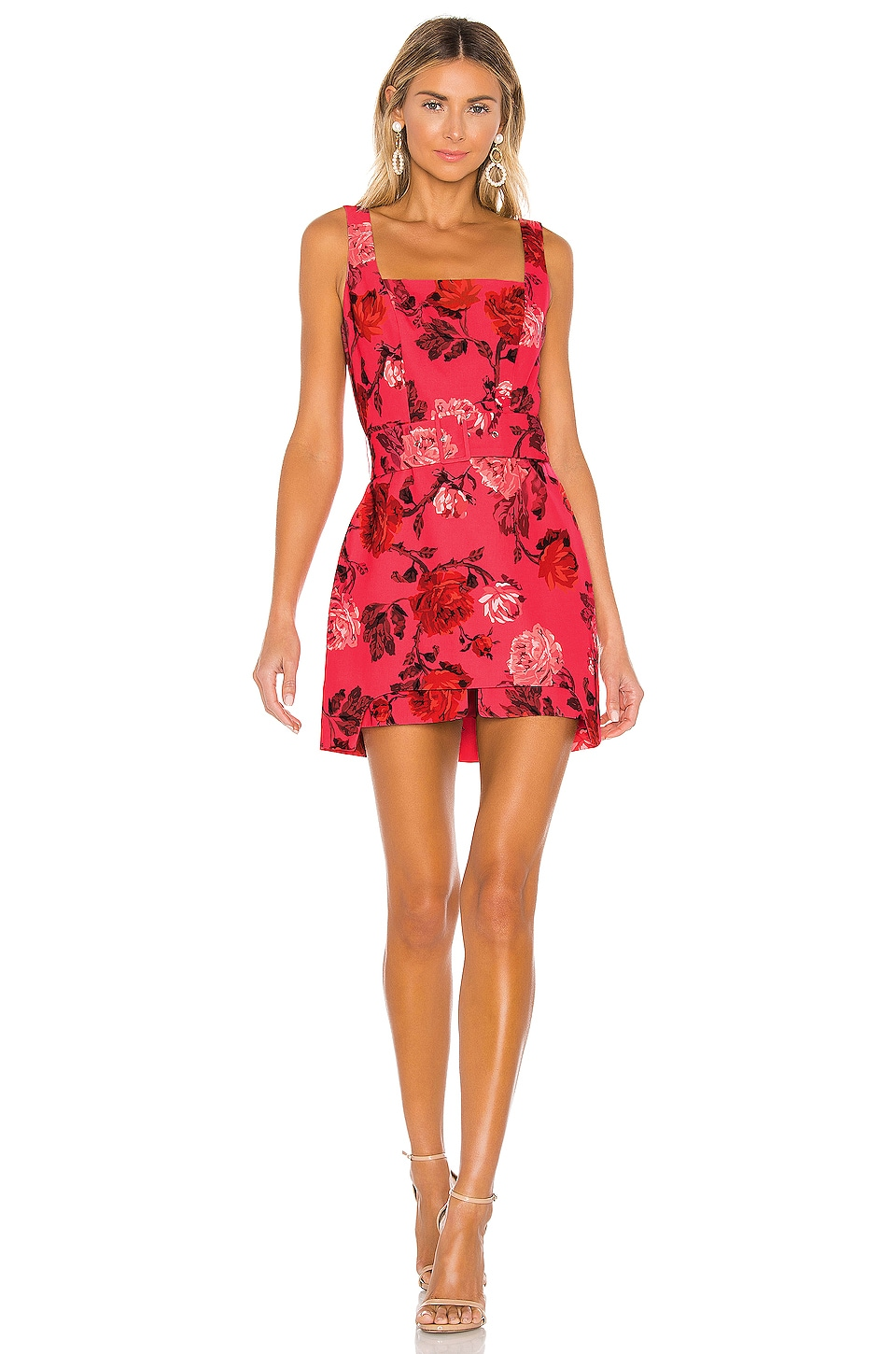 C/MEO Variation Mini Dress in Hot Pink Rose