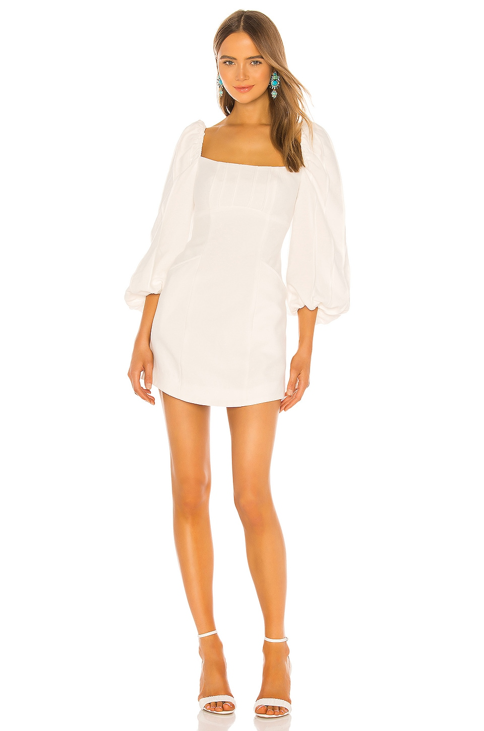 C/MEO Over Again Long Sleeve Dress in Ivory
