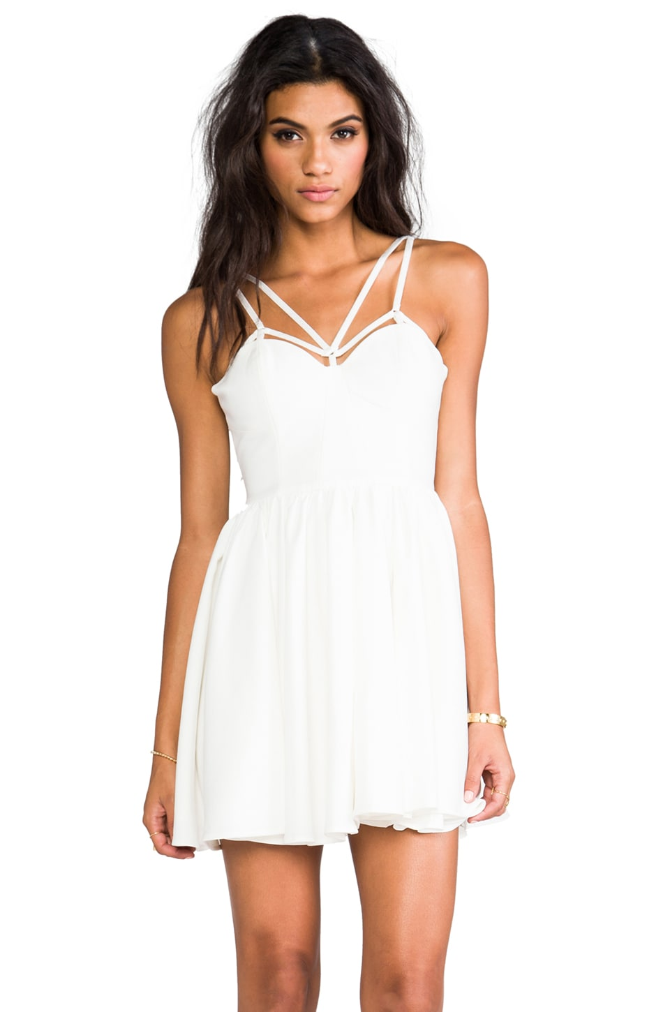 C/MEO District Dress in Ivory