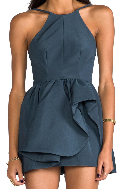 C/MEO Winter Wind Dress in Graphite Blue