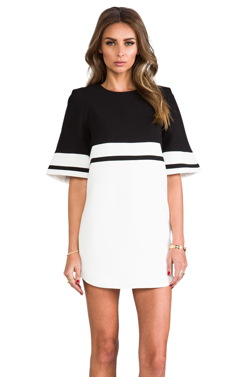 C/MEO We Are Young Dress in Black/White
