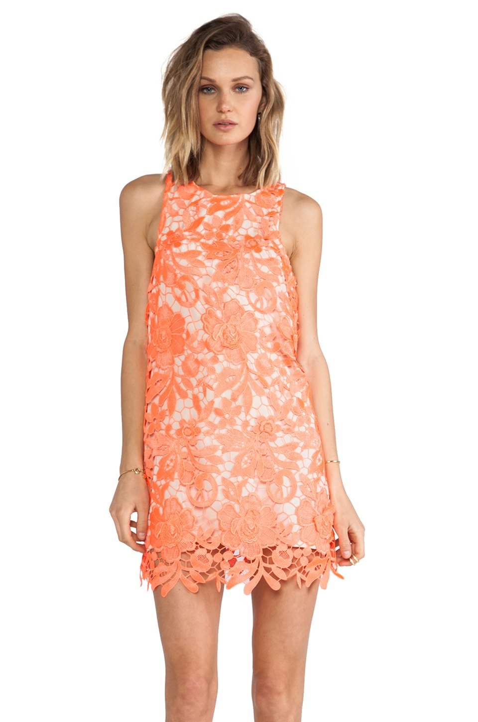 C/MEO Spellbound Dress in Neon Tangerine