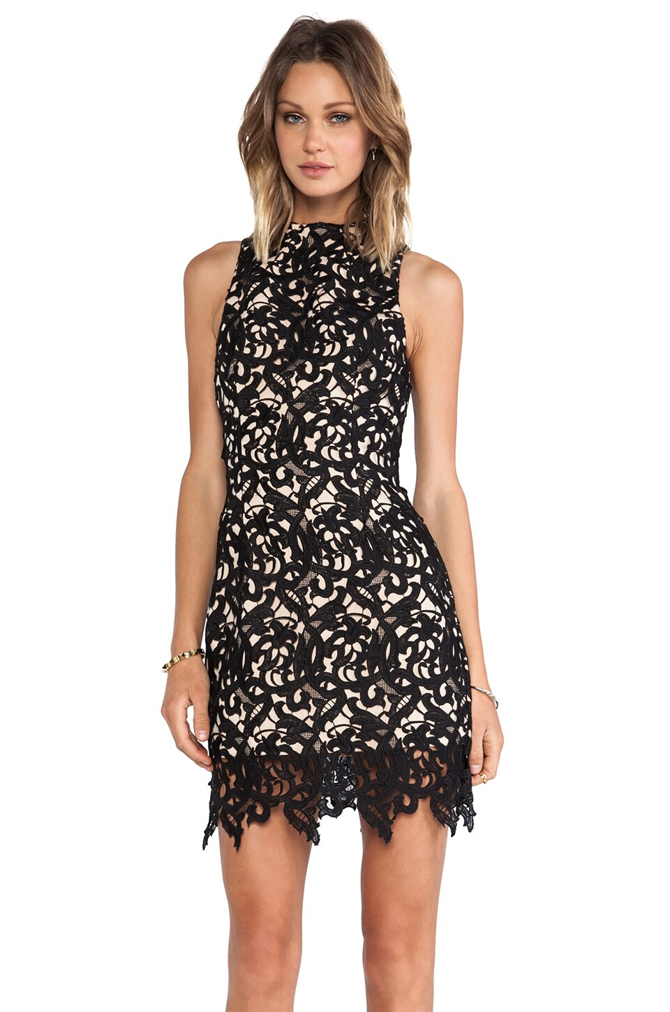 C/MEO Fallen Love Dress in Black
