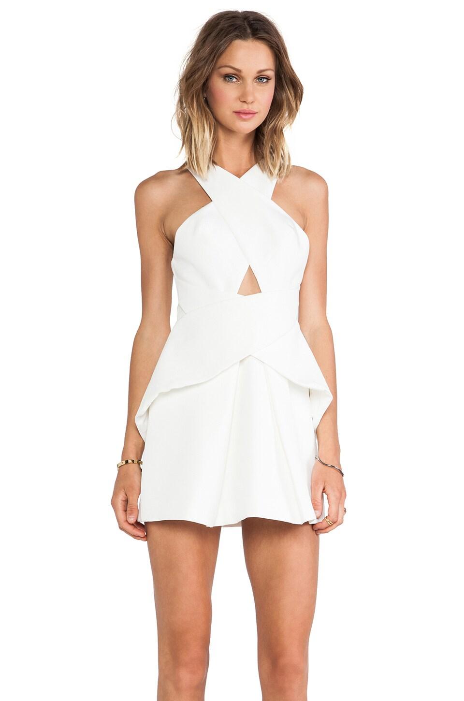 C/MEO Tigerskin Dress in Ivory