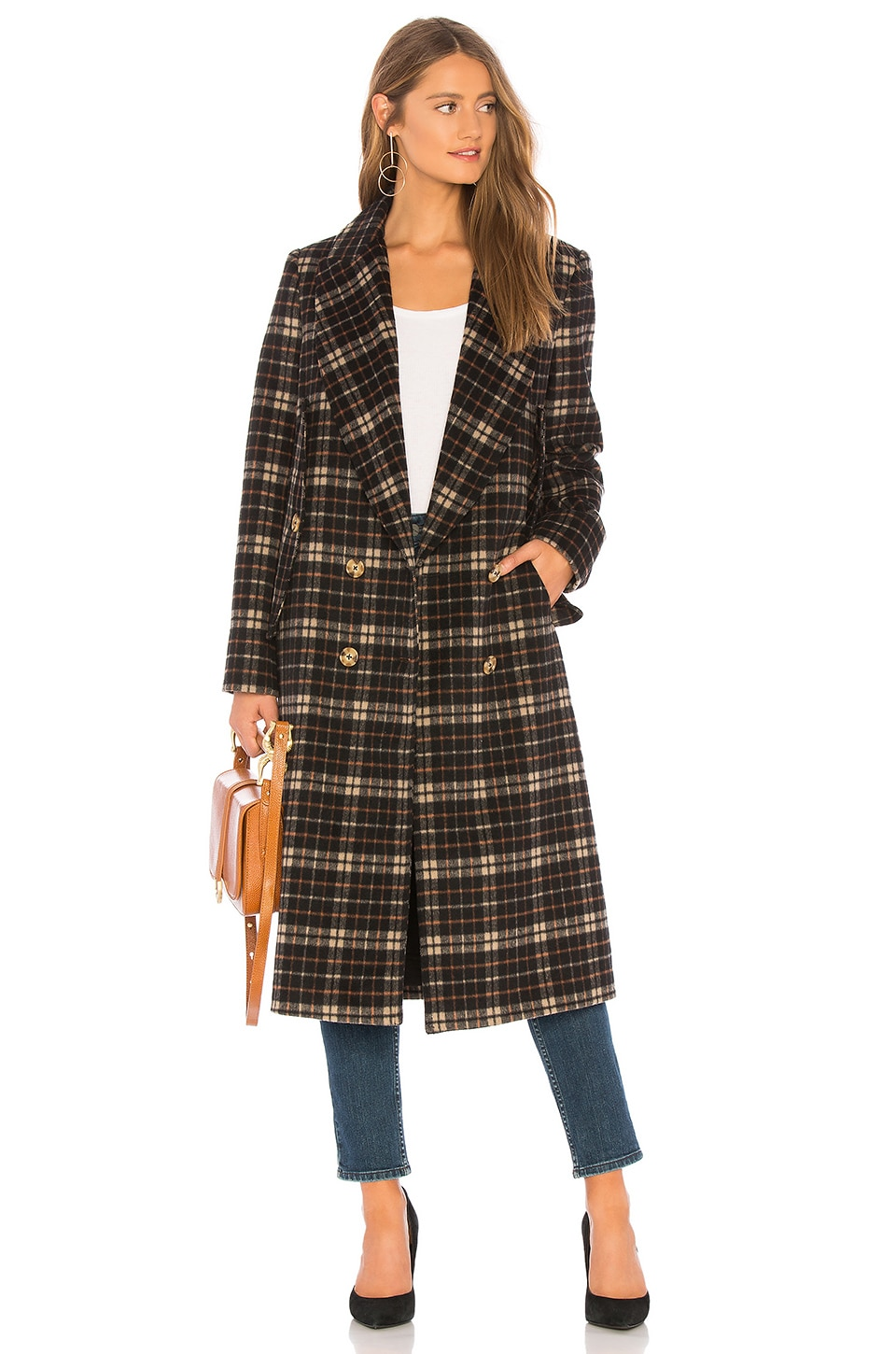 C/MEO Magnets Coat in Black Check