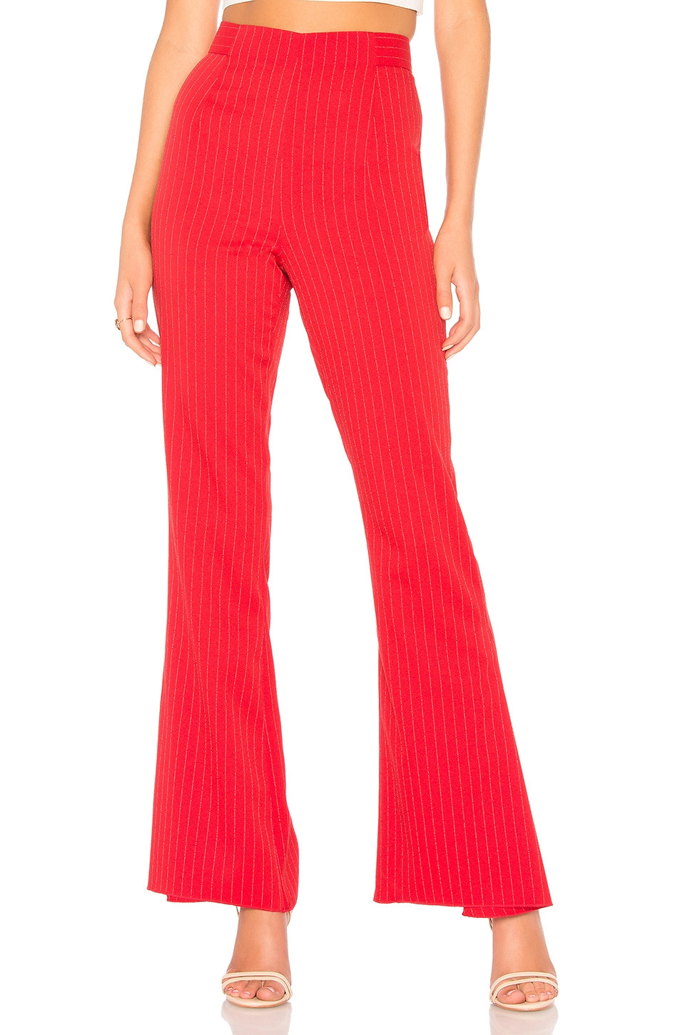 C/MEO COLLECTIVE C/Meo Striped Trousers - Red