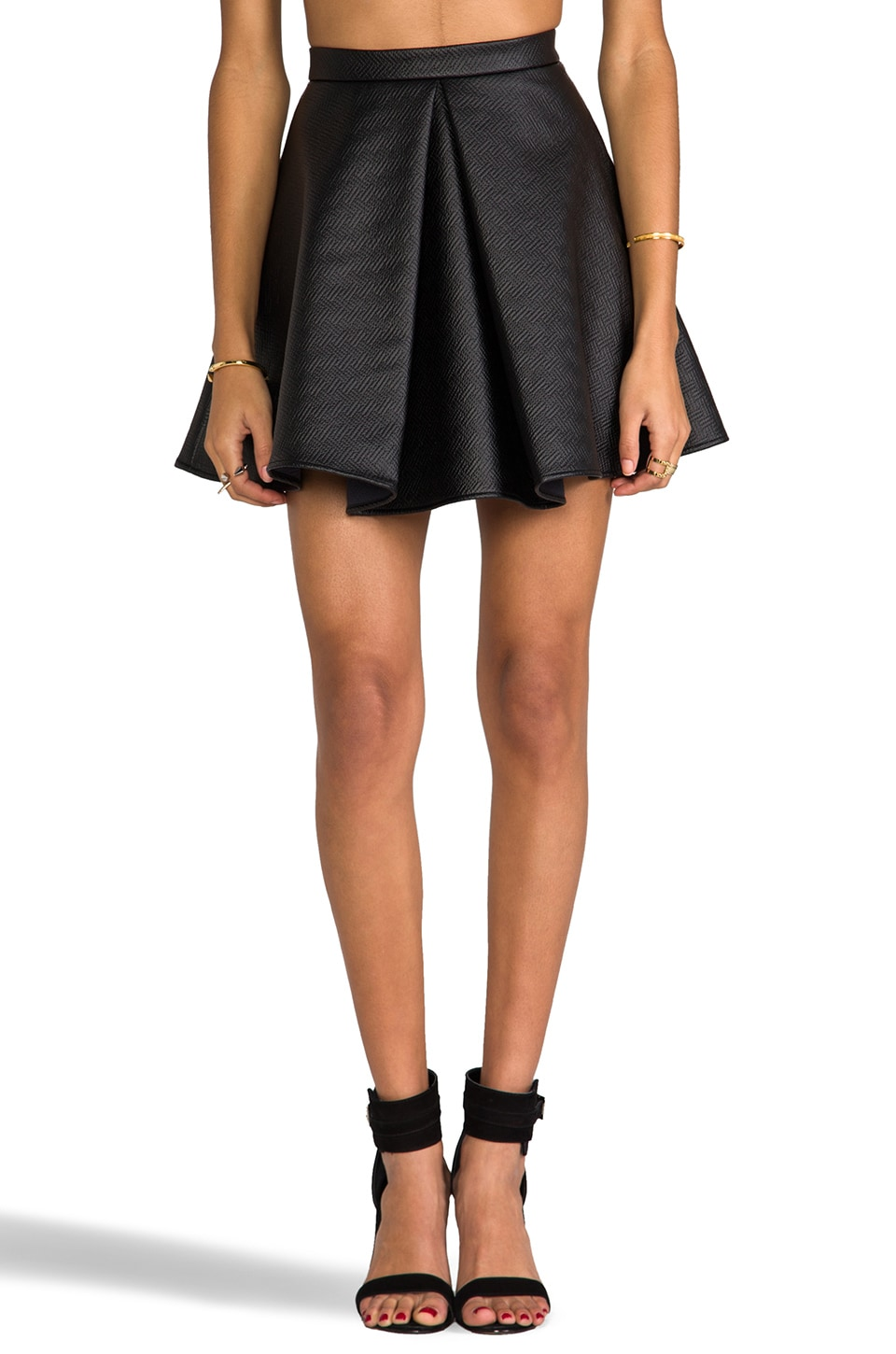 C/MEO Bloom Skirt in Black