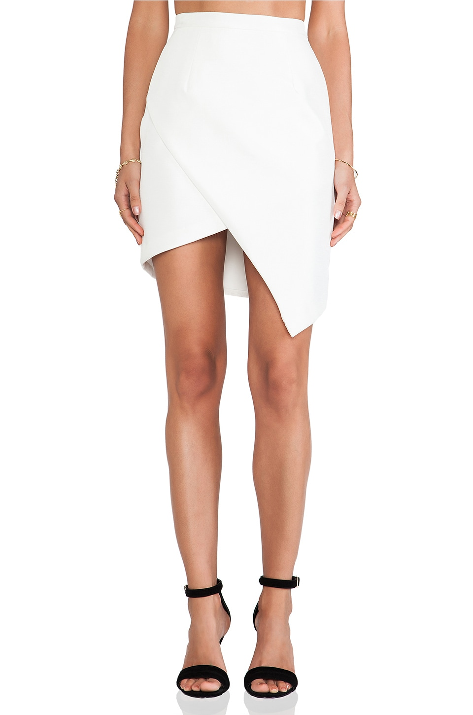 C/MEO Window Blues Skirt in Ivory