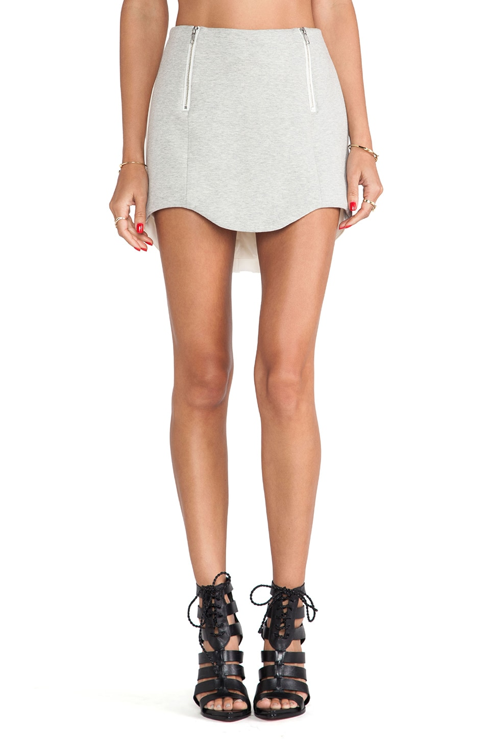 C/MEO No Light Skirt in Grey & Ivory