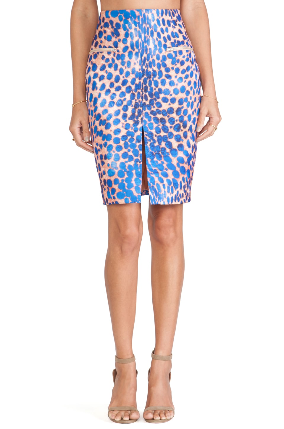 C/MEO The Recovery Skirt in Cobalt Leopard